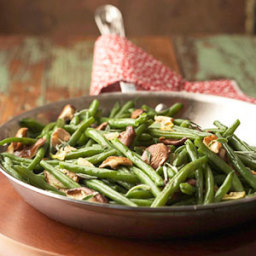 Green Beans with Sage and Shiitake Mushrooms