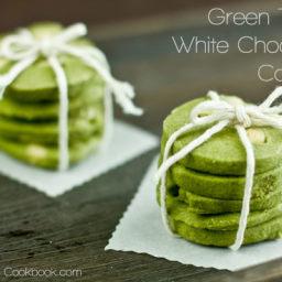 Green Tea  and  White Chocolate Cookies