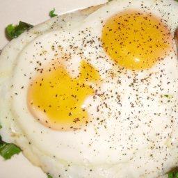 Griddle Fried Eggs (Cooke