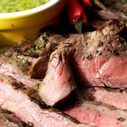 Grill Round Steak in Chimichurri Marinade