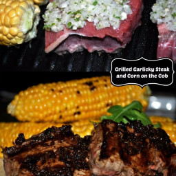 Grill Season Isn't Over Yet! Garlicky Steak and Grilled Corn