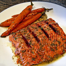 Grilled and Glazed Wild Copper River Sockeye Salmon