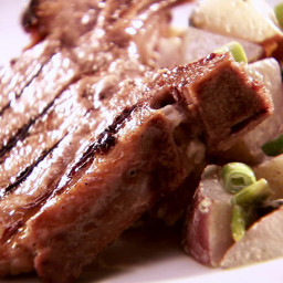 Grilled Apple Brined Pork Chops