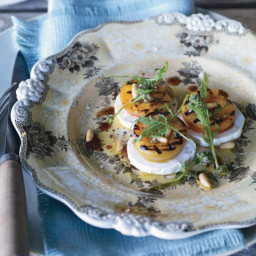 Grilled Apricot, Arugula and Goat Cheese Salad