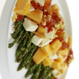 Grilled Asparagus and Melon Salad