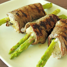 Grilled Asparagus Beef Rolls