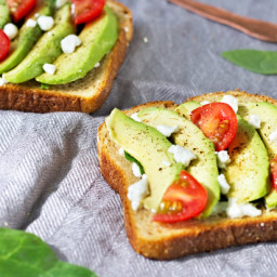 Grilled Avocado Goat Cheese Toast