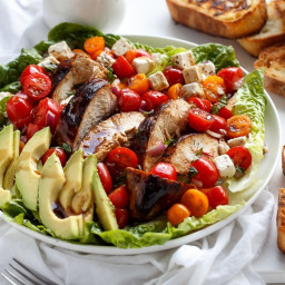 Grilled Balsamic Chicken & Avocado Bruschetta Salad