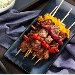 Grilled Beef and Pepper Kabobs