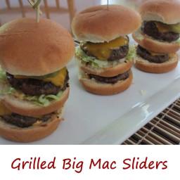 Grilled Big Mac Sliders