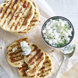 Grilled Bread with Spicy Yogurt Dip | Recipes & Meals