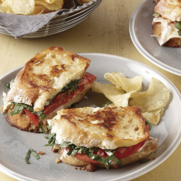 Grilled Brie and Tomato Sandwiches