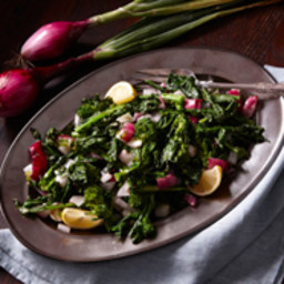 Grilled Broccoli Raab and Charred Red Onions