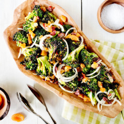 Grilled Broccoli With Apricot Puttanesca