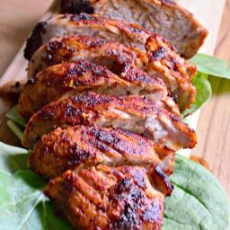 Grilled Brown Sugar Chili Pork Tenderloin