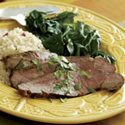 Grilled Butterflied Leg of Lamb with Garlic and Curry Spices