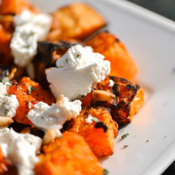 Grilled Butternut Squash With Fresh Ricotta, Pine Nuts, and Sage Recipe