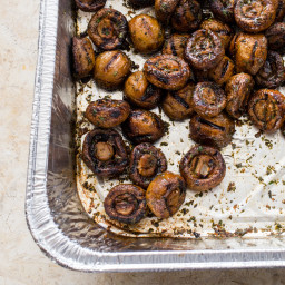 Grilled Button Mushrooms
