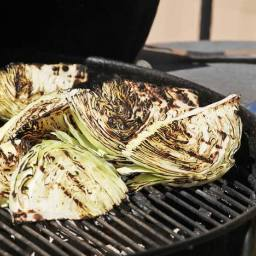 Grilled Cabbage With Blue Cheese Dressing