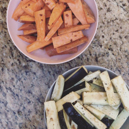 Grilled Carrots and Zucchini