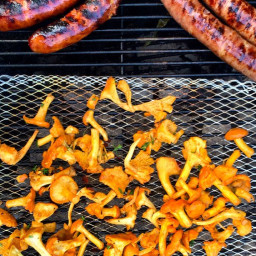 Grilled Chanterelle Mushrooms with Parsley and Lemon