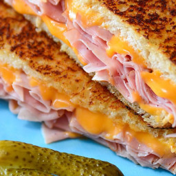 Grilled Cheese and Ham Sandwich