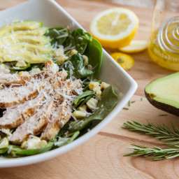 Grilled Chicken and Corn Salad with Avocado