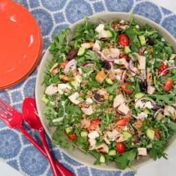 Grilled Chicken and Kale Greek Salad