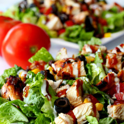 Grilled Chicken Barbecue Salad