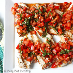 Grilled Chicken Breast Bruschetta