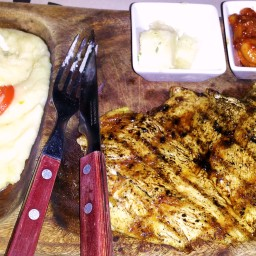 Grilled Chicken Breasts with Garlic Butter