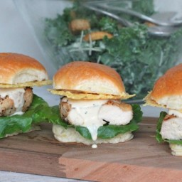 Grilled Chicken Caesar Sliders