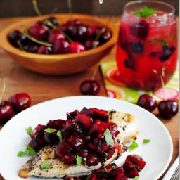 Grilled Chicken & Fresh Cherry Salsa