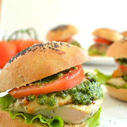 Grilled Chicken Pesto Sliders
