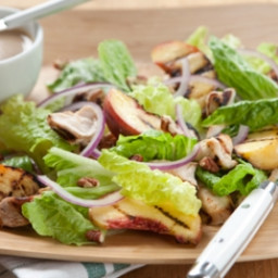 Grilled Chicken Salad with Peach-Pecan Vinaigrette