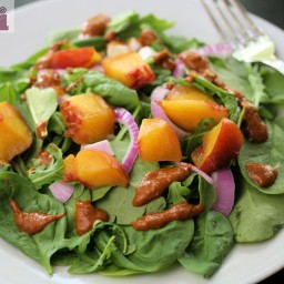 Grilled chicken salad with roasted shallot dressing