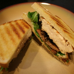 Grilled Chicken Sandwich with Pancetta, Arugula, and Aioli