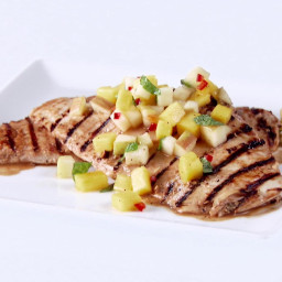 Grilled Chicken with Apple-Mango Chutney