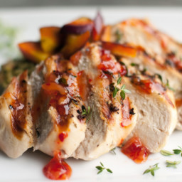 Grilled Chicken with Summer Fruit Chutney