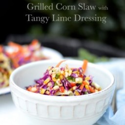Grilled Corn Cole Slaw with Tangy Lime Dressing