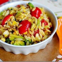 Grilled Corn Orzo Salad