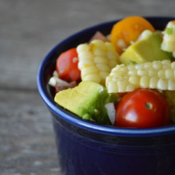 Grilled Corn Salad with Tomatoes and Avocados