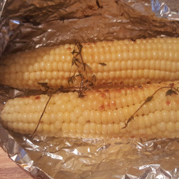 Grilled Corn With Maple-Lime Butter