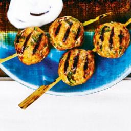 Grilled Curried Pork Meatballs