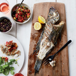Grilled Fish with Tapenade and Smoky Ratatouille