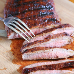 Grilled Flank Steak with Brown Sugar Rub