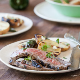 Grilled Flank Steak with Cilantro Balsamic Marinade