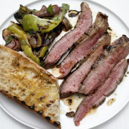 Grilled Flank Steak with Peperonata