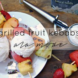 Grilled Fruit Kebabs Ala Mode