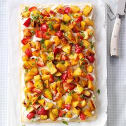 Grilled Fruit Phyllo Tart